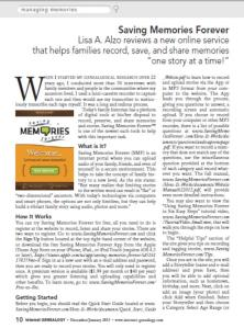 Saving Memories Review Internet Genealogy Magazine December 2012