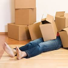 moving feet and boxes
